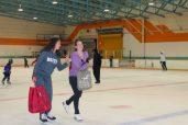Teenagers took advantage of the fresh ice, while enjoying good company.