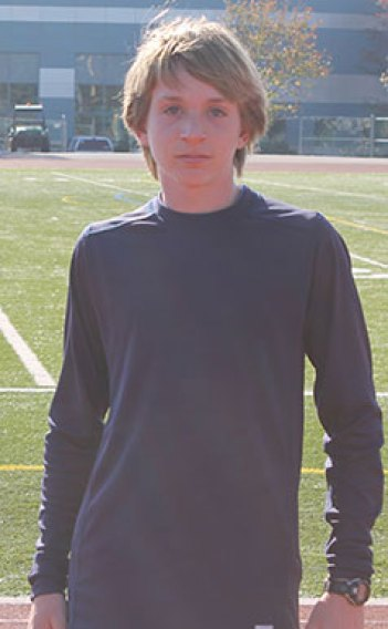 Luke Mackrell who placed third in the McQuaid Invitational Meet in Rochester, NY last month