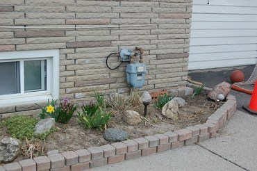Garden in early spring, ready to start prepping.