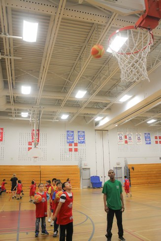 Sinking baskets was first on the list in the skills and drills workshop.