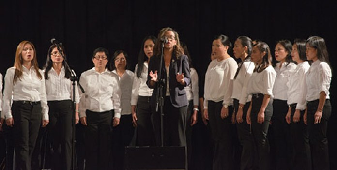 The Lady of Assumption Catholic Parish choir performs during the Martha Joy Concert.