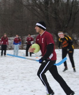 A player from UTSC's Phoenix dashes away