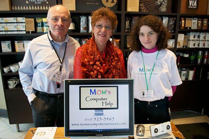 Mom´s Computer Help family. Left to right Claude La France, Gloria Lattanzio, Bianca)