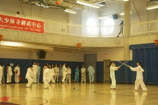 A Tai Chi demonstration by two members of the YMCA Tai Chi group.