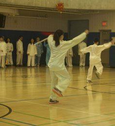 Tai Chi movements test balance and patience.