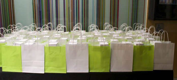 Gift bags given out to the attendees.