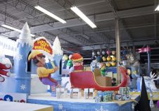 Santa's Toy Workshop float is one of the 26 floats included in the parade.