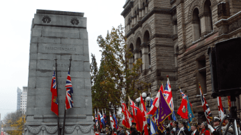Remembrance Day service at Toronto's Old City Hall, Nov. 11.