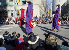 Hand-standing monkeys are always a favourite at the parade.