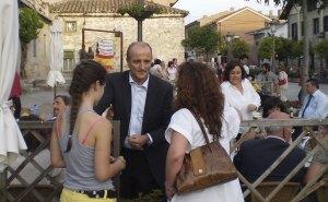 Ministro Miguel Sebastián en el Bar Arturo de Torrelodones