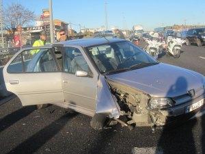 Accidente en la A6 - Torrelodones