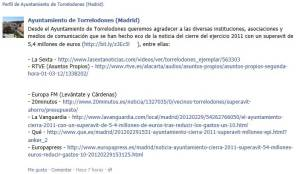 Agradecimiento del Ayuntamiento de Torrelodones a los medios