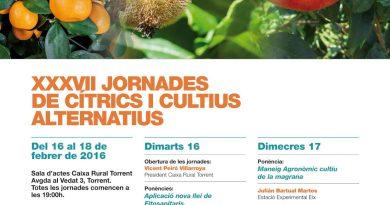 Caixa Rural Torrent celebrará sus XXXVII Jornadas de Cítricos y Cultivos Alternativos