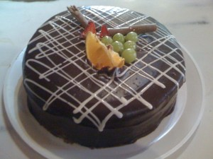 Pasteles decorados con chocolate (3)