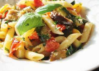 Pasta met gegrilde groente