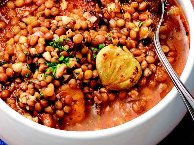 Linzensoep - Zuppa di lenticchie