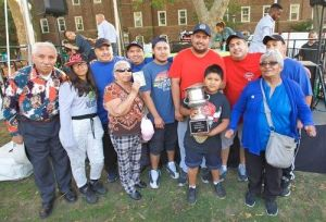 The Soriano family of Tacos el Rancho in Sunset Park, Brooklyn, 2016 Vendy Cup winners. Pictured with Street Vendor Project Leadership Board member, Heleadora Vivar (far right). Photo credit: Clay Williams