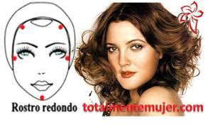 rostro redondo Drew Barrymore