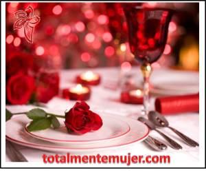 Mesa romántica para dos