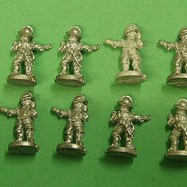 PS07 Pikeman, Breast & Back Plate, Tassets, Pot, attacking
