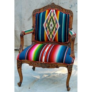 Blu Serape Chair