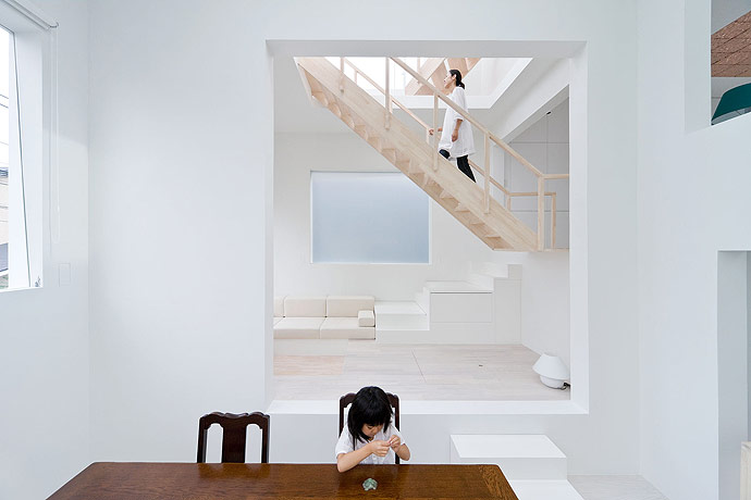 sou fujimoto house h dining and living room