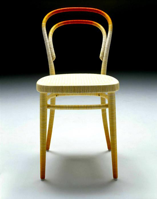 Keisuke Fujiwara Spool 214 thonet chair zlto cervena
