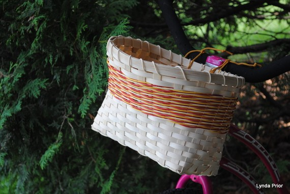 Bike Basket Handwoven lynda prior babkin kosik na bicykel