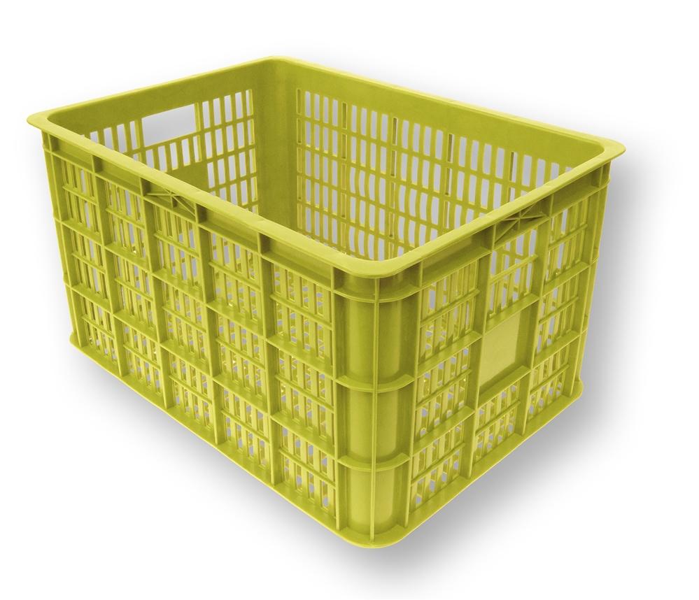 basil crate lime velky limetkovy plastovy kos na bicykel