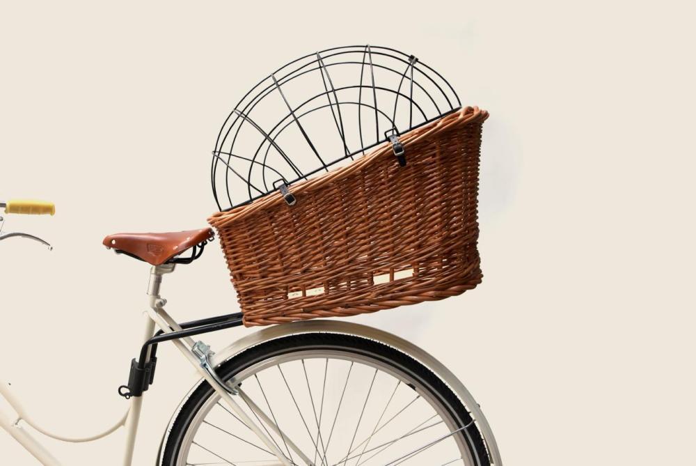 pasja large dog bike basket velky ratanovy kosik pre psy na bicykel