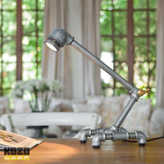 KOZO 3 desk lampa z rur z galvanizovaneho zeleza