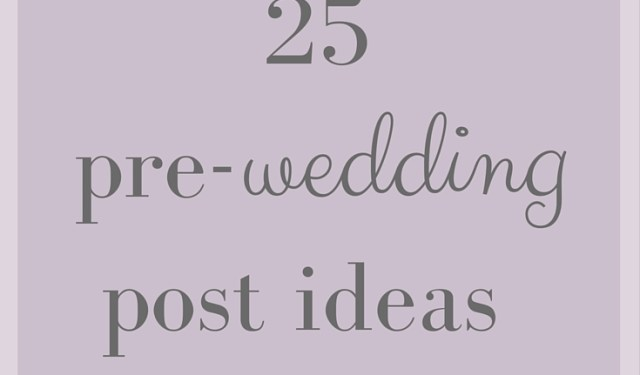 Wedding Post Ideas