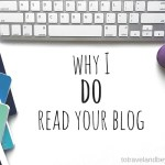 Why I DO Read Your Blog