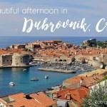 A Delightful European Afternoon In Dubrovnik, Croatia