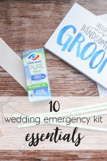 wedding emergency kit essentials