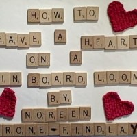 How to weave a heart motif on a pin board loom