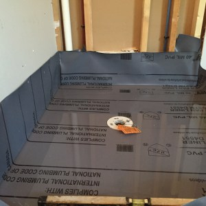 40 mil pvc shower pan liner for tile installation