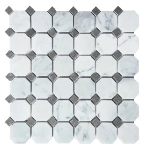 Greecian and black octagon mosaic