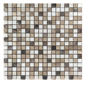 Mix marble .5 inch mosaic square tile
