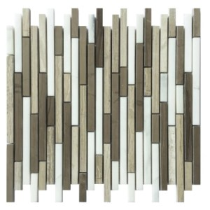 Mix marble linear mosaic decorative tile