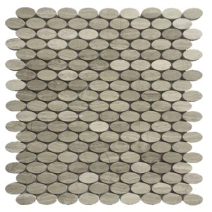 oval marble mosaic tile