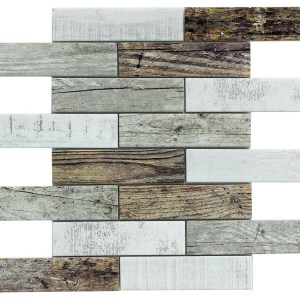 Synergy glass wood look mosaic DC0028