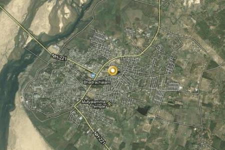 bhadrachalam video, popular tourist places, satellite map