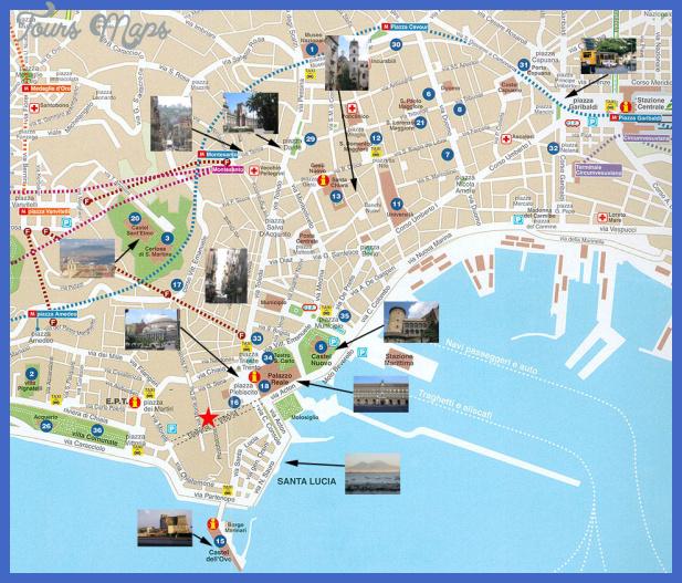 map rome naples