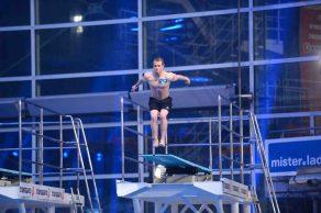 """Spitzensport! Olympionike Fabian Hambüchen beim """"TV total Turmspringen"""" © ProSieben/Willi Weber"""