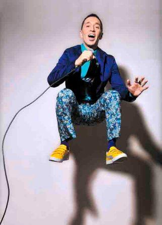 Der amerikanische Grammy-nominierte Sänger Theo Bleckmann. Foto: John Labbe