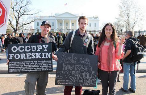 Occupy foreskin