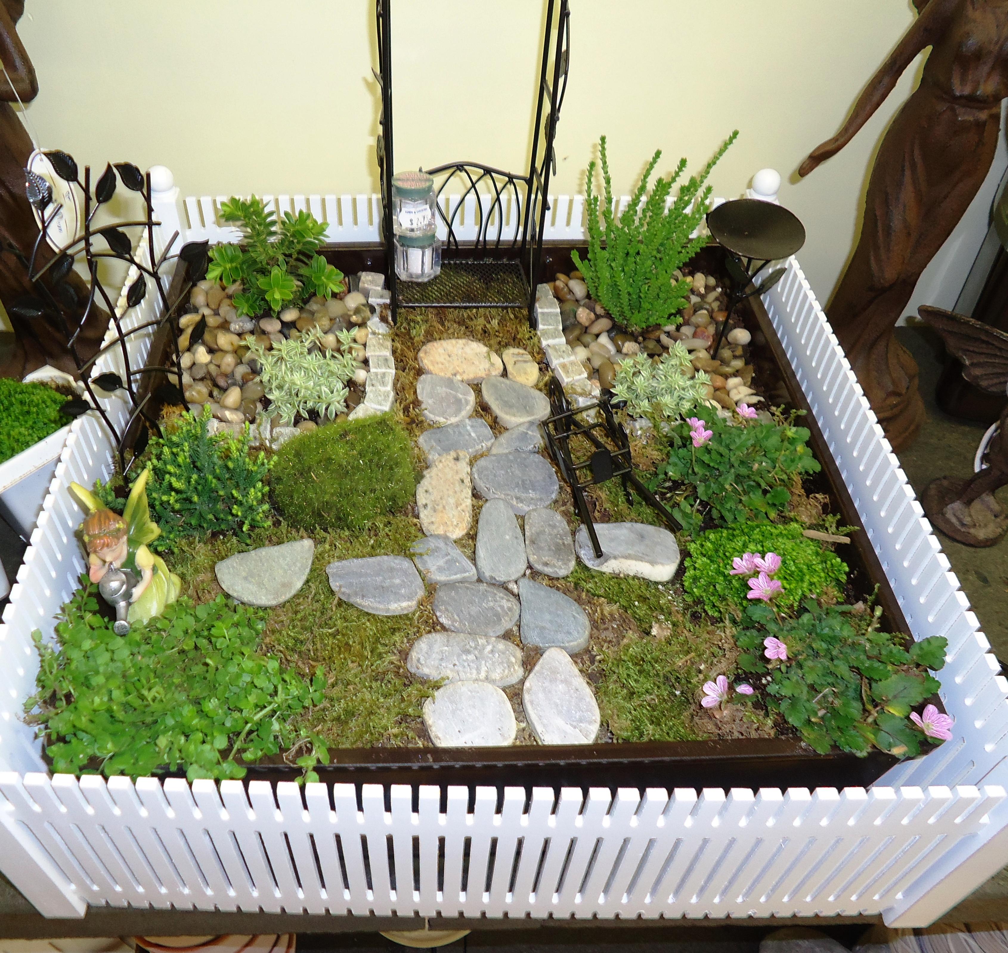 Sunshiny Miniature Gardening Town Country Nurseries Archerfield Walled Garden Fairy Training Fairy Garden Train Station garden Fairy Garden Train