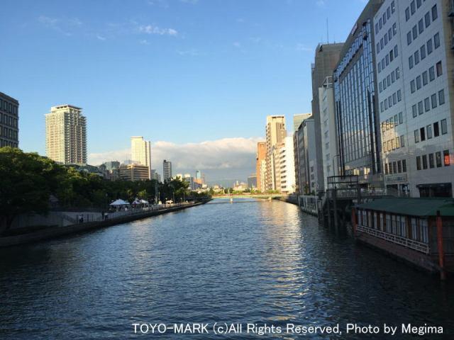 淀屋橋からの夕景@東洋マーク