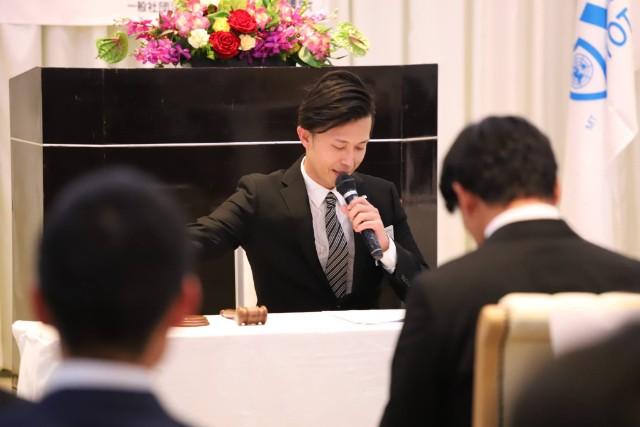 議長の柴田副理事長